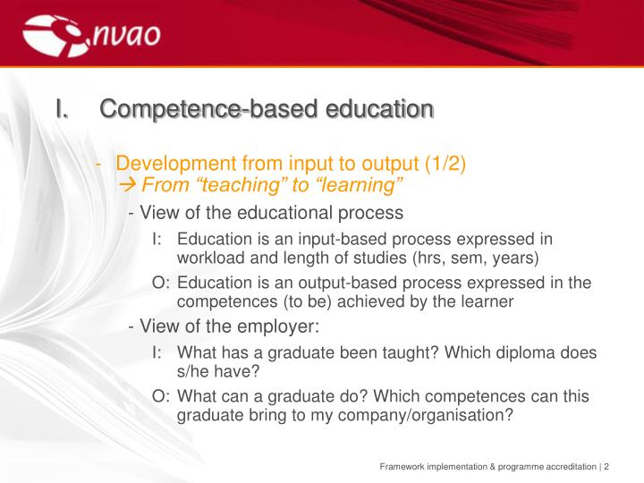 I competence based education