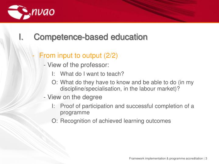 I competence based education1