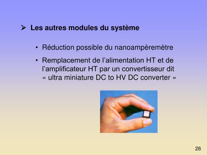   Les autres modules du système