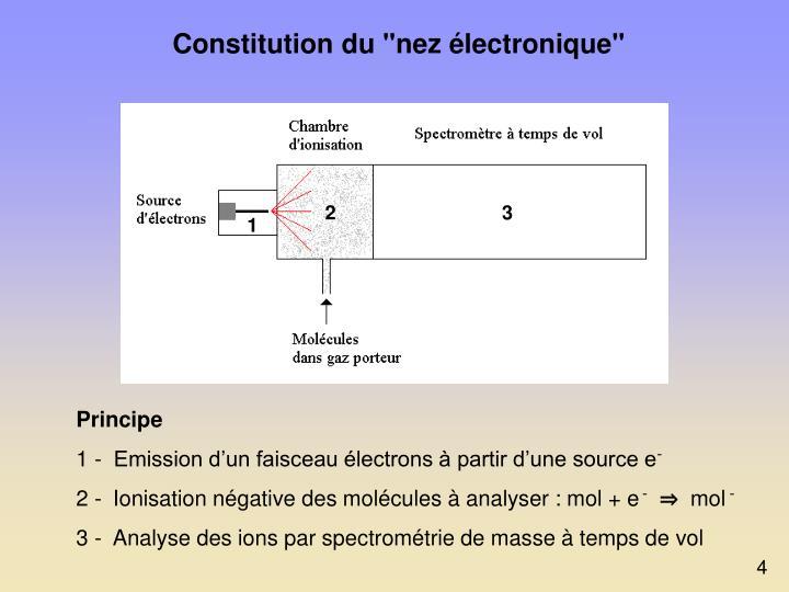 """Constitution du """"nez électronique"""""""
