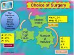 choice of surgery