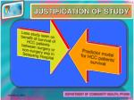 justification of study