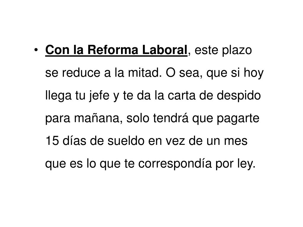 Ppt La Reforma Laboral Powerpoint Presentation Id 5220872