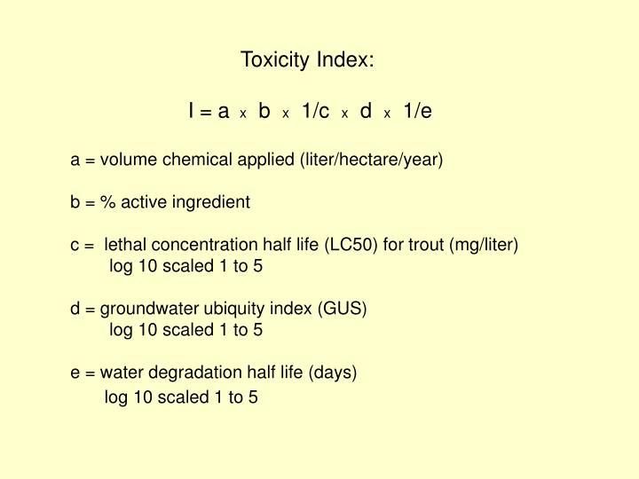 Toxicity Index: