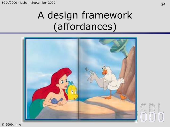 A design framework (affordances)