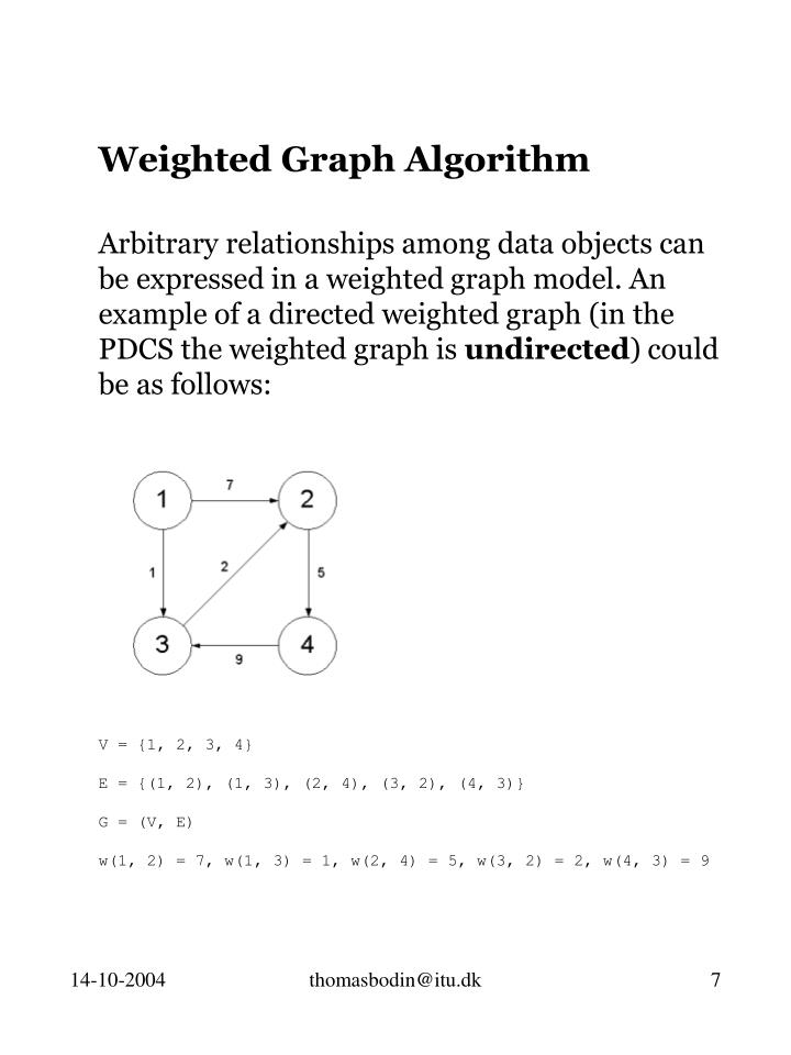 Weighted Graph Algorithm