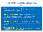 particulas sub atomicas