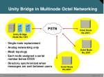 unity bridge in multinode octel networking