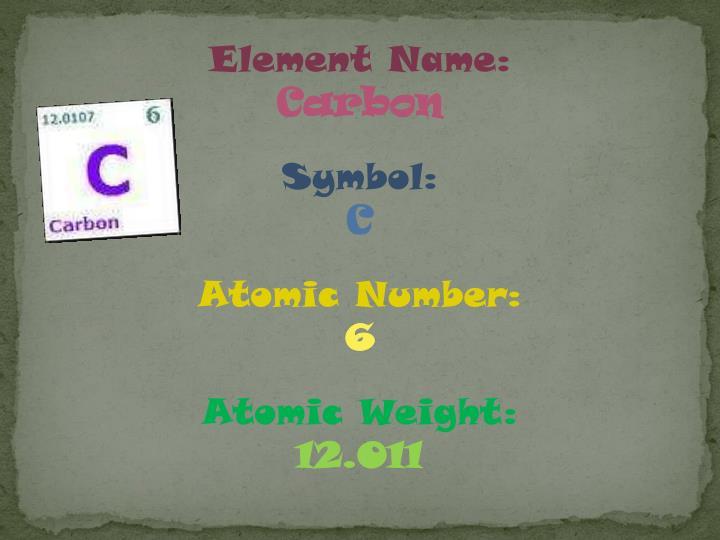 Element Name: