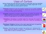uses of carbon