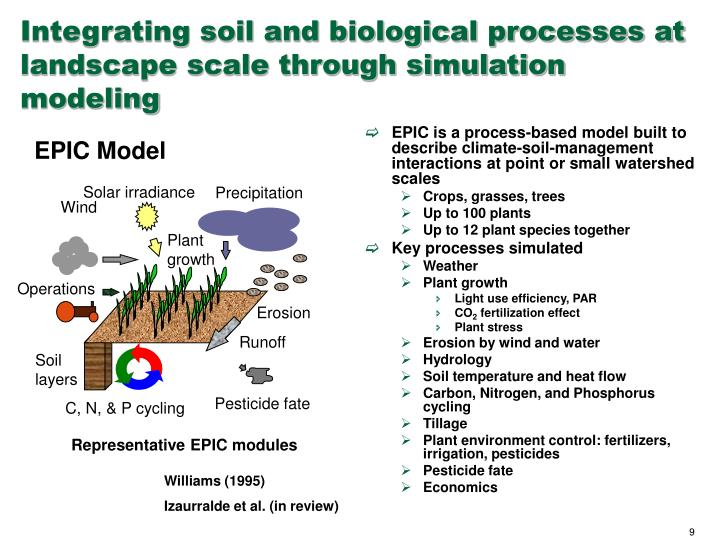 Integrating soil and biological processes at landscape scale through simulation modeling