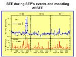 see during sep s events and modeling of see
