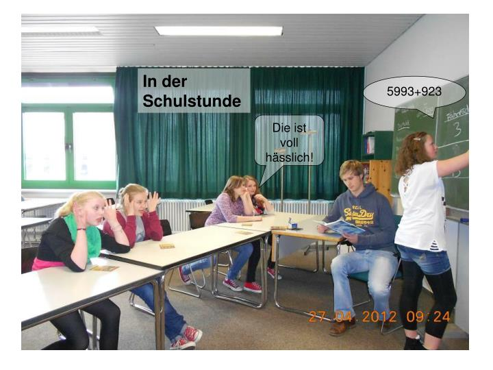 In der Schulstunde