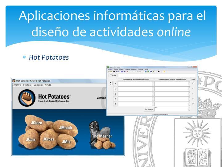 Aplicaciones informáticas para el diseño de actividades