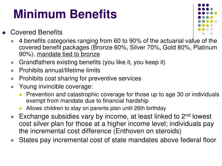 Minimum Benefits