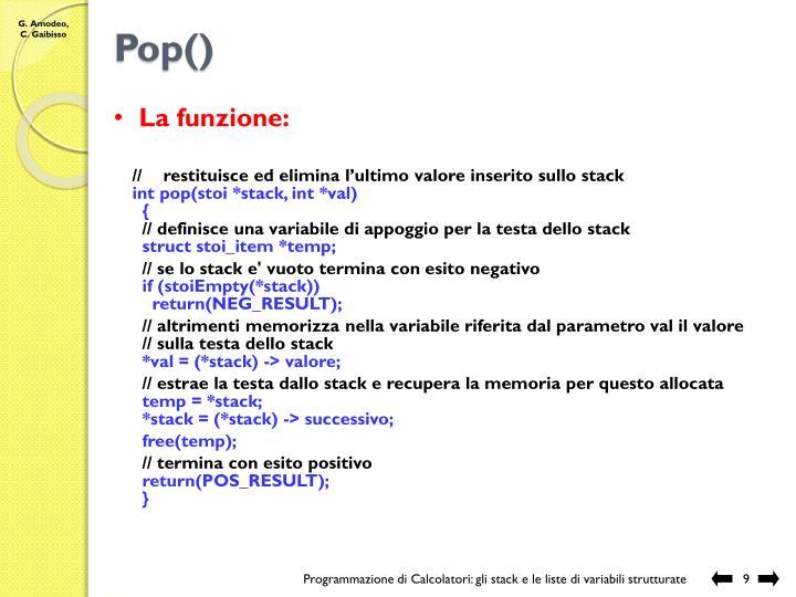 Pop()