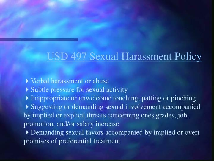 USD 497 Sexual Harassment Policy