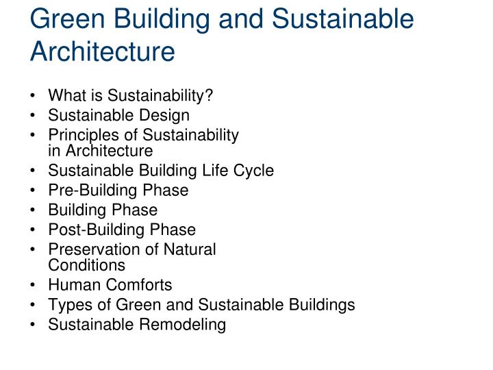 Green Building And Sustainable Architecture What Is Sustaility