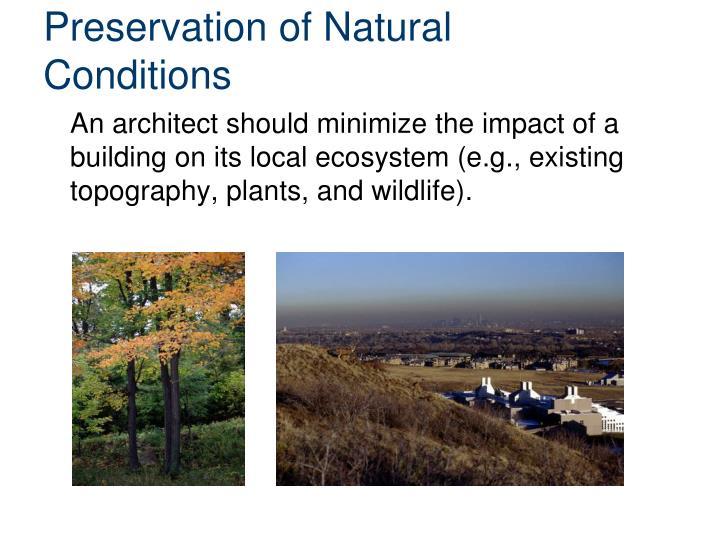 Preservation of Natural