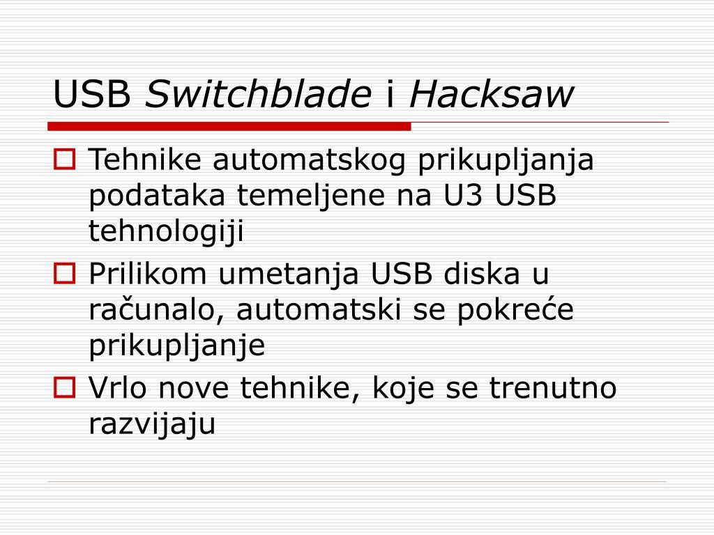 PPT - Automatsko prikupljanje podataka pomoću USB uređaja