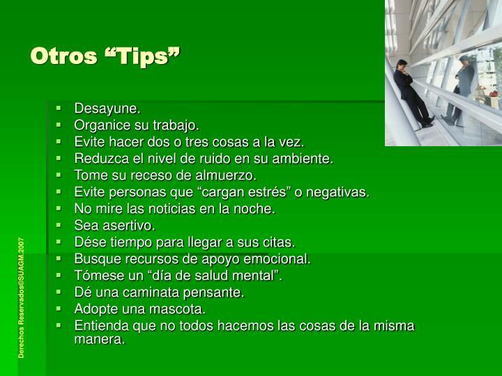 """Otros """"Tips"""""""