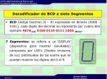 decodificador de bcd a siete segmentos