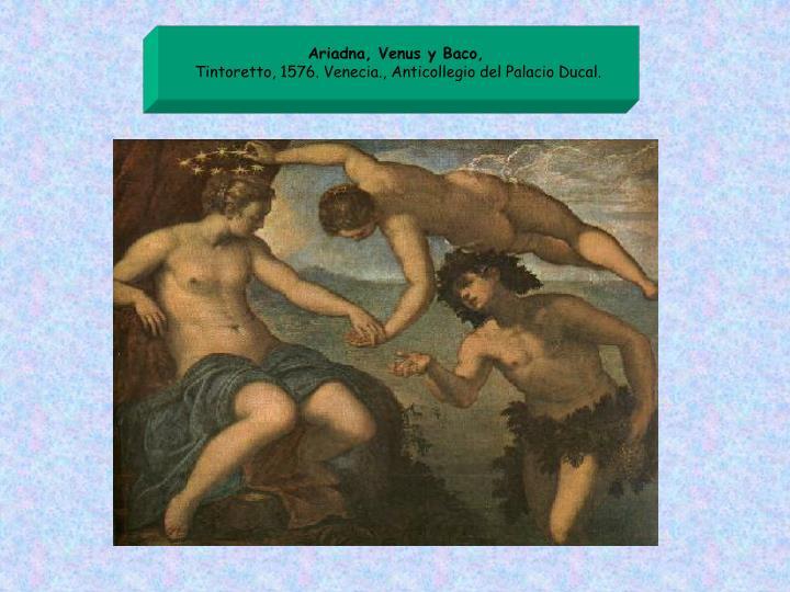 Ariadna, Venus y Baco,