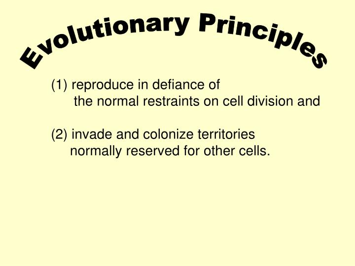 Evolutionary Principles