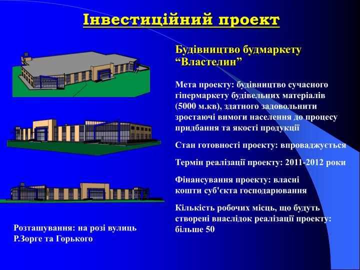 Інвестиційний проект