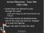action reaction suez war 1955 19561