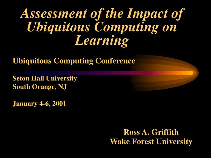 assessment of the impact of ubiquitous computing on learning n.