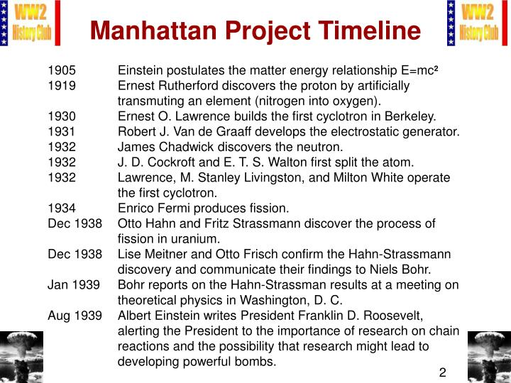 a report on the manhattan project
