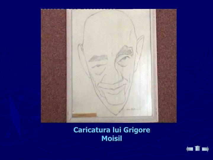 Caricatura lui Grigore Moisil