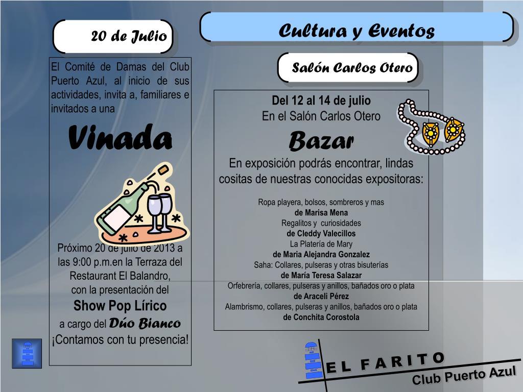 Ppt Club Puerto Azul Powerpoint Presentation Free
