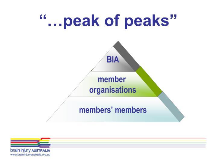 Peak of peaks