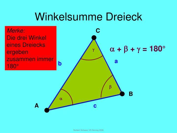 Winkelsumme dreieck