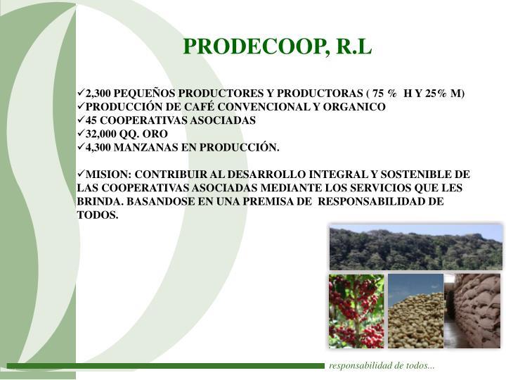 PRODECOOP, R.L
