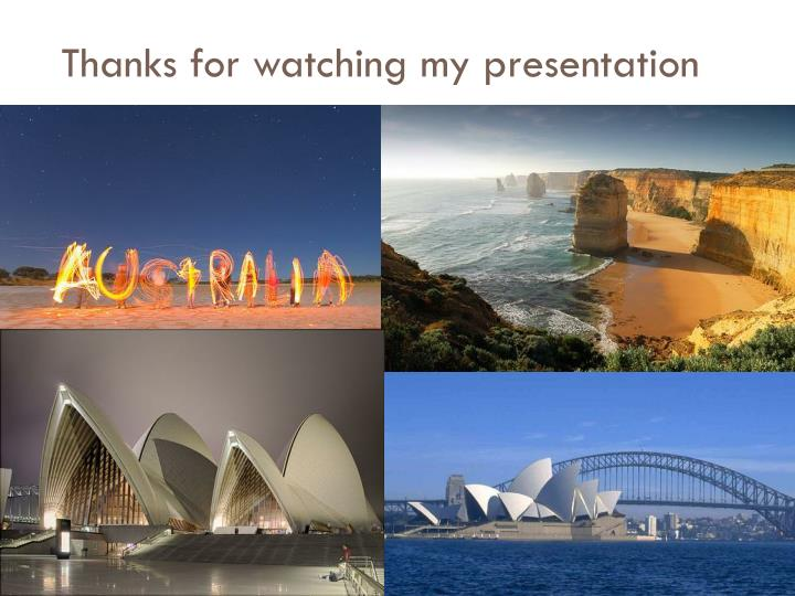 Thanks for watching my presentation