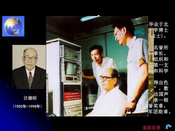 汪德昭 ,物理学家。江苏灌云人。