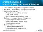 aradial converged prepaid postpaid multi ip services