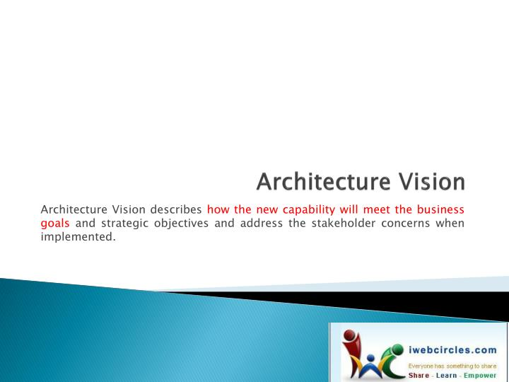 architecture vision n.