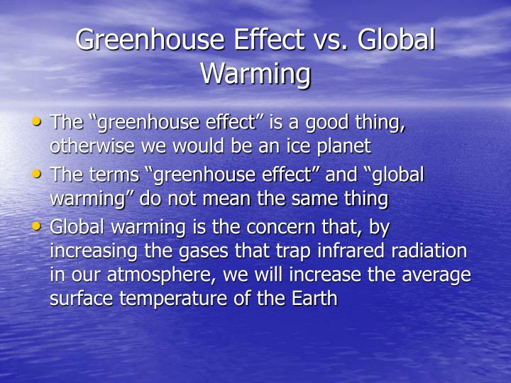 Greenhouse Effect vs. Global Warming