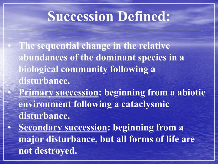 Succession Defined: