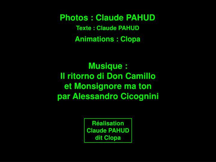 Photos : Claude PAHUD
