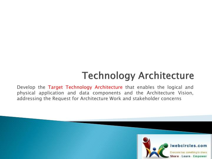 technology architecture n.