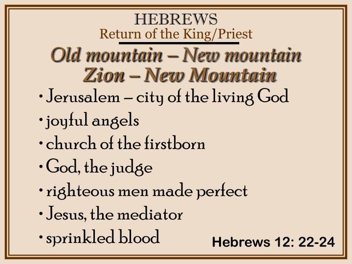 Old mountain – New mountain