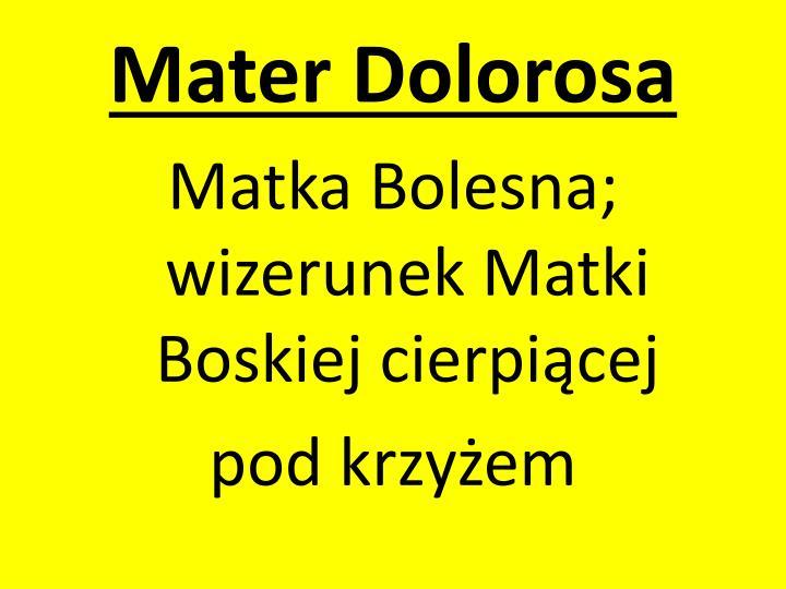 Mater dolorosa1