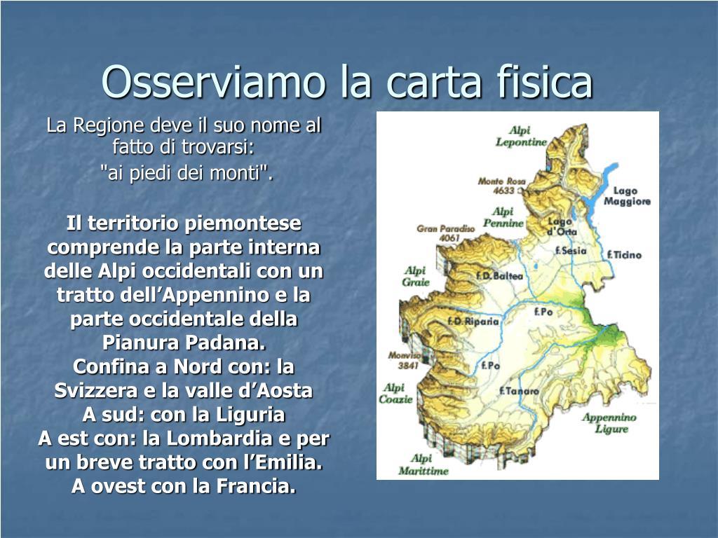 Regione Piemonte Cartina Fisica.Ppt Alla Scoperta Della Regione Piemonte Powerpoint Presentation Free Download Id 5228033