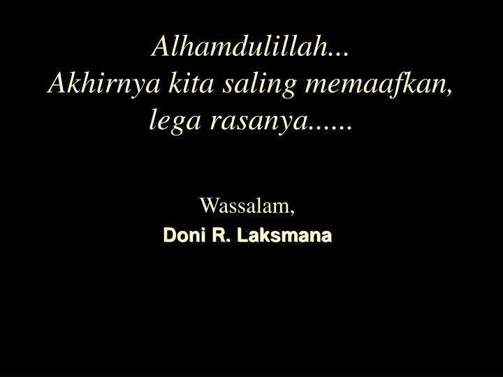 Alhamdulillah...