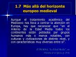 1 7 m s all del horizonte europeo medieval